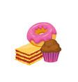 muffindonutcake vector image
