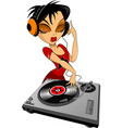 music in headphones vector image vector image