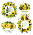 natural oil cooking seasoning banners vector image