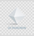 octahedron geometric shape vector image vector image