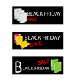 Office Folder on Black Friday Sale Banners vector image vector image