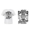 owl hunting club t-shirt print mockup wild hunt vector image vector image