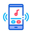 phone music audio player icon outline vector image