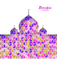 ramadan kareem orange ornamental arabic pattern vector image vector image