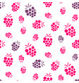 raspberry pink and purple seamless pattern on vector image vector image