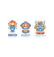 robotech logo design set company identity vector image vector image