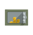 safe box with golden coins safety business box vector image