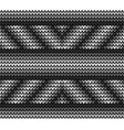 seamless black lines knitting vector image