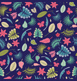 seamless repeat pattern of tropical foliage vector image vector image
