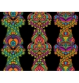 Set ethnic seamless vertical patterns of colored vector image vector image