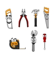 Set of cartoon DIY hand tools vector image vector image
