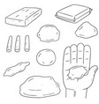 set of clay for kid vector image