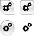 Settings glossy button vector image