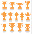 sports trophies and awards retro collection vector image vector image