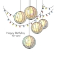 Stylish happy birthday card in romantic style with vector image vector image