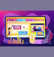 supply chain analytics concept vector image vector image
