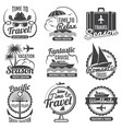 travel adventure vintage labels and emblems vector image vector image