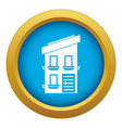 two-storey house icon blue isolated vector image vector image