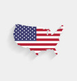 united states flag map on gray background vector image vector image