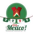viva mexico clothes festival poster vector image vector image