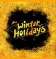 winter holiday merry christmas lettering design vector image vector image