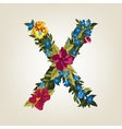 X letter Flower capital alphabet Colorful font vector image vector image