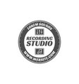 recording studio label badge emblem logo vector image