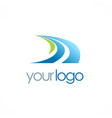 road arrow logo vector image