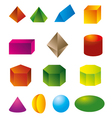 3d geometric shapes vector image vector image