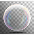 air bubble glow white transparent bubble with vector image vector image
