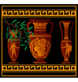 ancient amphora and jugs vector image