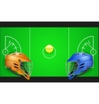 Background of competition in lacrosse teams vector image vector image