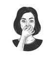 bad smell sketch vector image