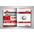 bi-fold brochure template design or flyer layout vector image
