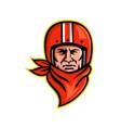 biker wearing bandanna and helmet mascot vector image