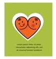 card of smiling baby boy and girl arranged vector image vector image