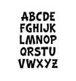 Cartoon comic graffiti font alphabet vector image vector image