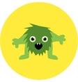 Cartoon cute monster alien vector image vector image