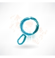 Cartoon magnifier Brush icon vector image