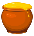 cartoon pot of honey vector image vector image