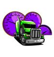 cartoon semi truck design art