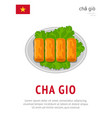 cha gio national vietnamese dish vector image