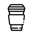 coffee tea drink cup package packaging icon vector image