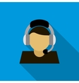Customer service operator icon flat style vector image vector image