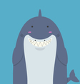 cute big fat shark vector image vector image