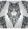 Decorative Owl Seamless pattern vector image