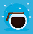 delicious coffee jar beverage vector image