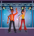 disco artist at stage cartoons vector image