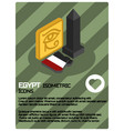 egypt color isometric poster vector image