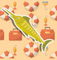 fish fishing cartoon vector image vector image